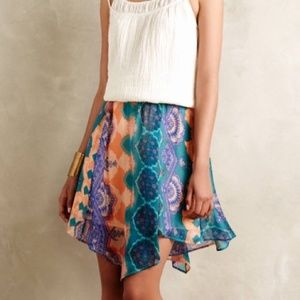 Anthropologie Silk Skirt by HD in Paris Small NWT